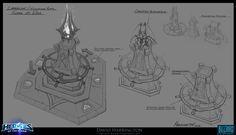 Heroes Of The Storm - Towers Of Doom Altar Concept, David Harrington on ArtStation at https://www.artstation.com/artwork/9yebN