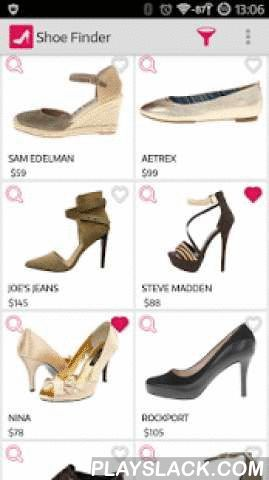 """ShoeFinder: Shoes & Fashion  Android App - playslack.com , ShoeFinder is a fashion shopping app that lets you shop for all the women's shoes you love. We simplified discovery by showing you all of the shoes of any style and shape you see and like. We make any shoe you want just one tap away. You can buy any shoe you see and like or click on our magic """"Get Similar"""" button to instantly browse through a selection of other visually similar shoes until you find the one you love!. Fashion isn't…"""