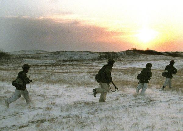 Arctic warfare training