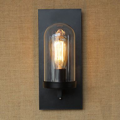 40w 110 220v american country style living room pastoral aisle warehouse industry bedside bar decorative wall sconce - Decorative Wall Sconces