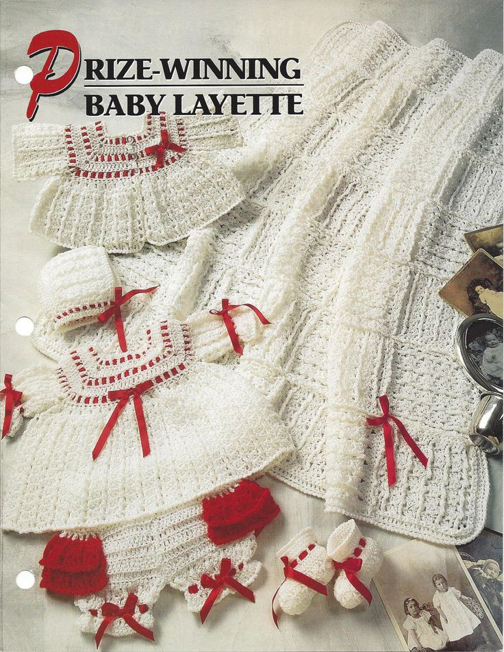 Prize-Winning Baby Layette Annie's Crochet by KnitKnacksCreations