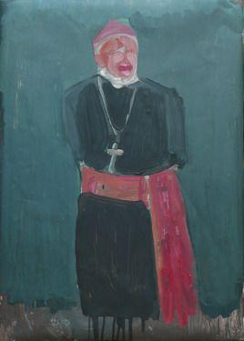 "Saatchi Online Artist Janusz Gałuszka; Painting, ""Cardinal cry"" #art"