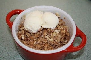 Microwave Apple Crisp for One