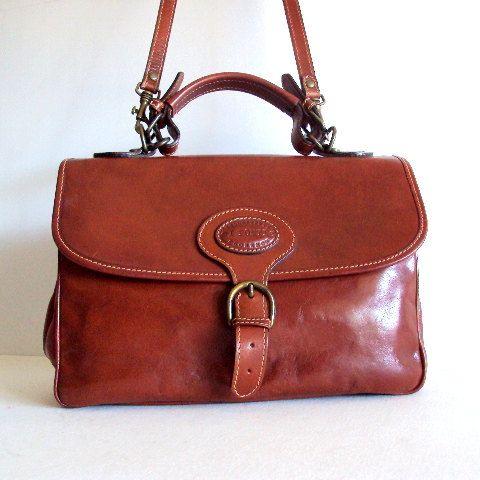 Vintage I PONTI Florence Genuine italian Leather Satchel Bag   $98.00