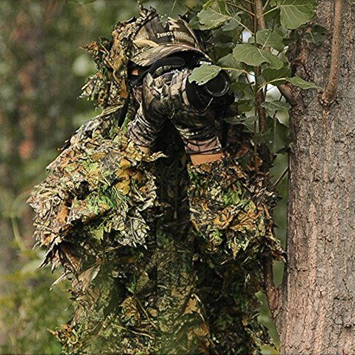 Isafish Ghillie Suits Hunting Camouflage Maple Leaf Hooded 3D Bionic Training Uniform Military Sniper Cloak Camouflage Clothing Hunting Shooting Airsoft Wildlife Photography or Halloween   http://huntinggearsuperstore.com/product/isafish-ghillie-suits-hunting-camouflage-maple-leaf-hooded-3d-bionic-training-uniform-military-sniper-cloak-camouflage-clothing-hunting-shooting-airsoft-wildlife-photography-or-halloween/