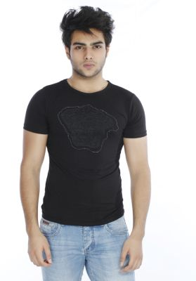 Black,White Tight Fit Crew Neck Half Sleeve T-Shirts Collection