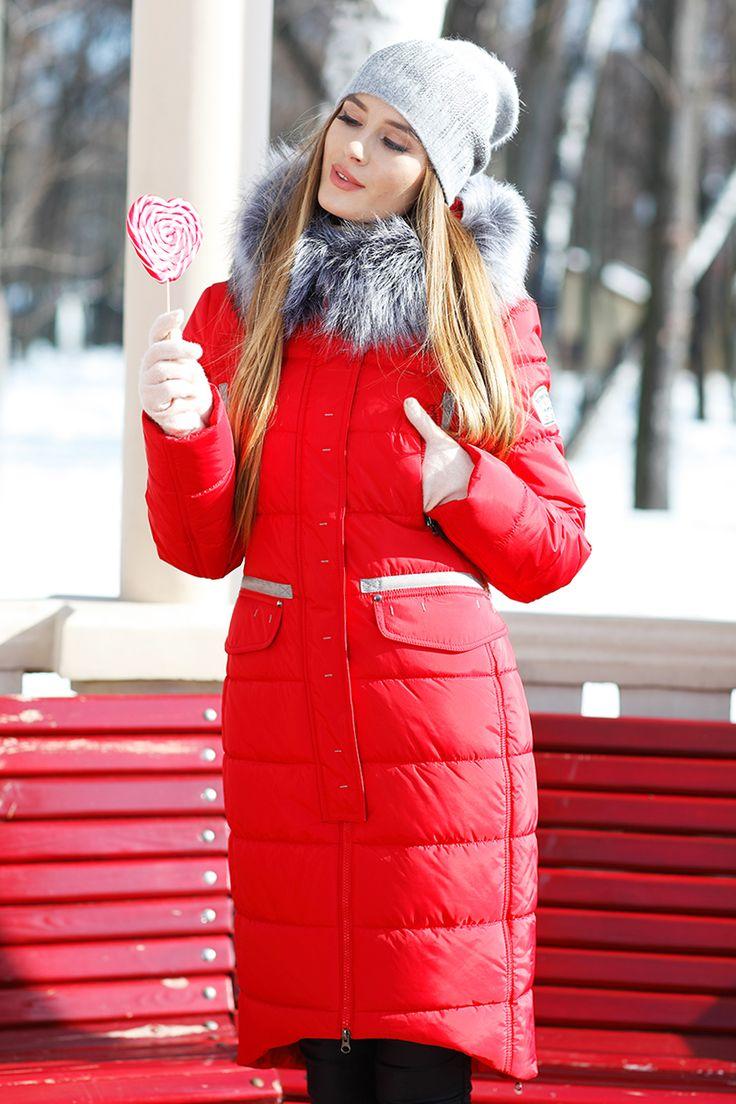 Длинное стеганое зимнее пальто пуховик Кэт от Nui Very - пальто зима 2017-2018, куртка женская 2017 зима, длинная куртка женская, пуховик с мехом, женская куртка зима, куртка женская 2017 зима, куртка женская 2018 зима, зимняя куртка женская , зимняя куртка женская 2017, зимняя куртка женская 2018 зимняя женская куртка, куртки пуховики, красный пуховик, зимняя куртка красный, красная зимняя куртка