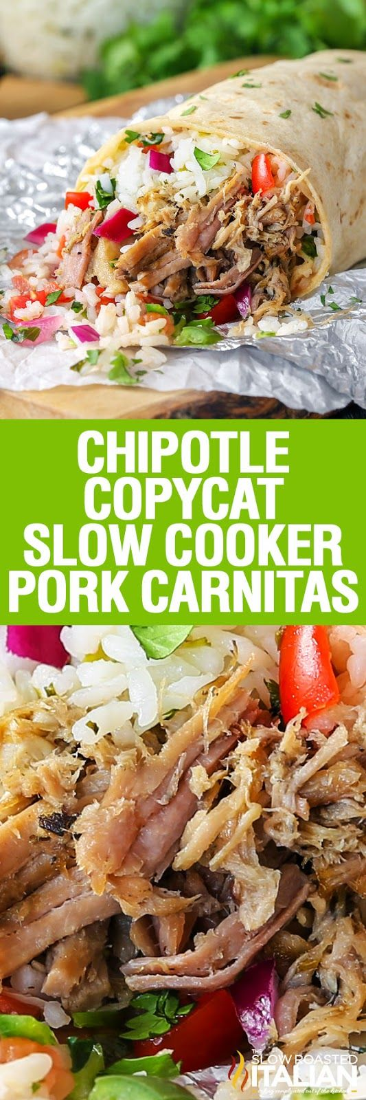 Chipotle Copycat Slow Cooker Pork Carnitas are a luscious slow cooked pork that…