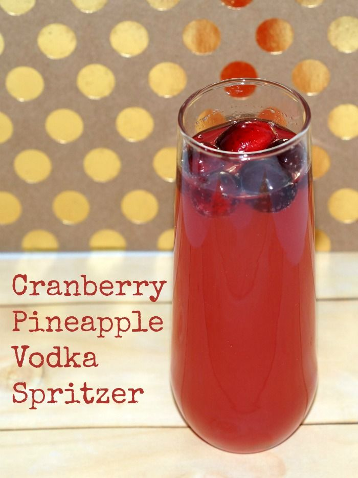 While mixed drinks are well and good, sometimes you want something a little simpler. This Cranberry Pineapple Vodka Spritzer is sure to hit the spot.