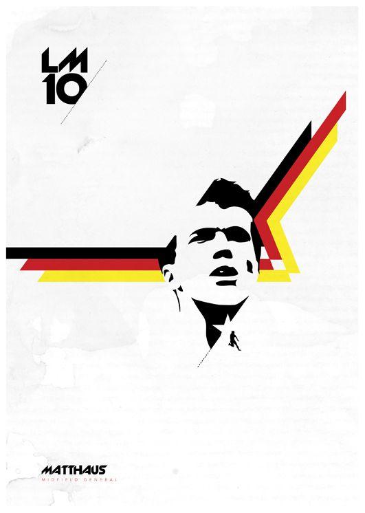 Lothar Matthäus Poster by Richard Debenham