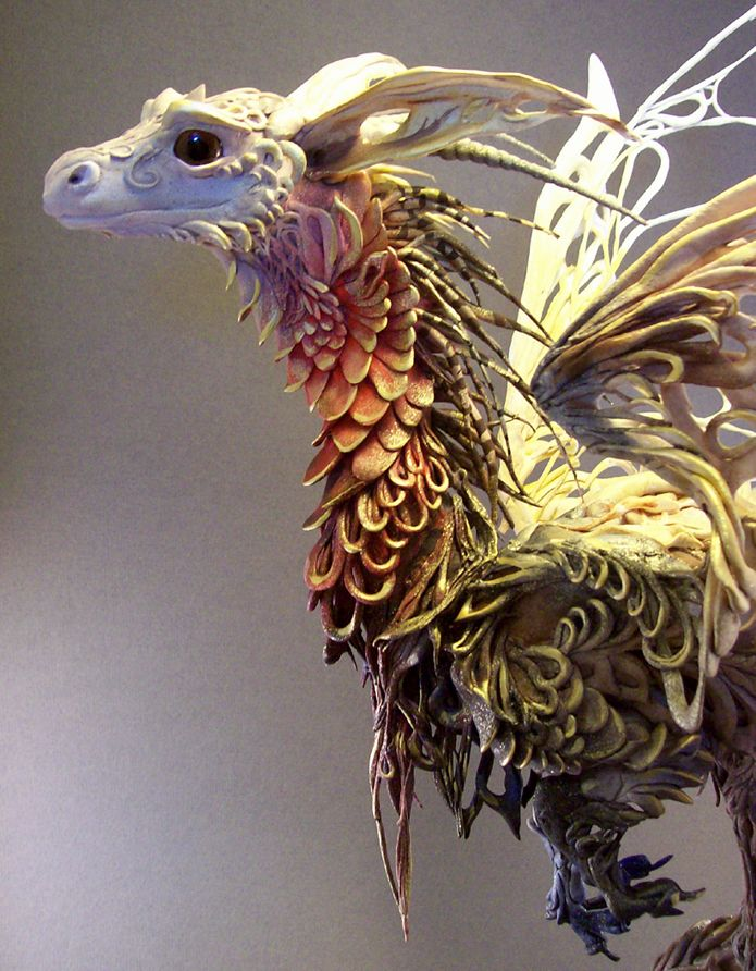 Awesome sculptures of dragons and other fanciful creatures.