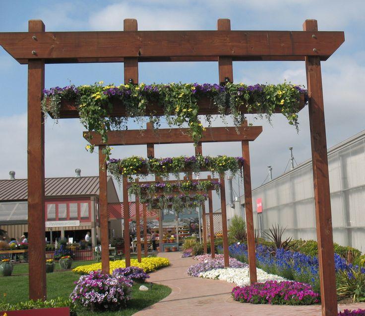 Walkway With Overhead Planters Garden Decor Pinterest
