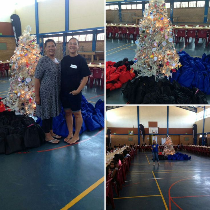 My wonderful mother and sister as our SOSA Support Ambassadors in South Africa!  We donated 200 Christmas gift bags which contained school stationery, books, a toy plus a tooth brush and tooth brush.