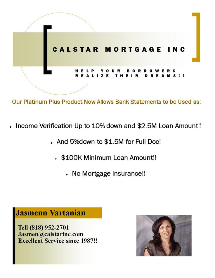 Calstar MortgageS Jumbo Loan Products Always At Your Service