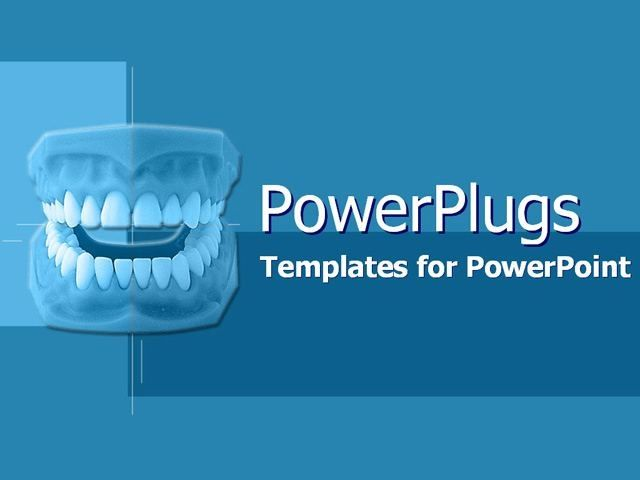 Royalty Free Dental Medicine PowerPoint Template in Purple