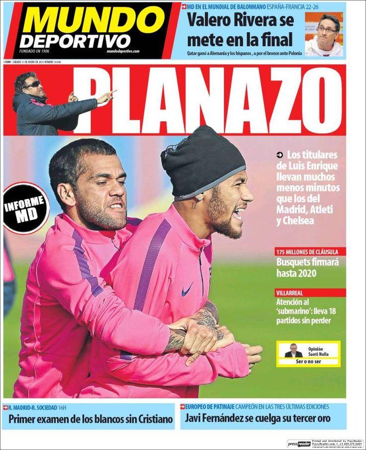 Portada Mundo Deportivo 31/1/2015