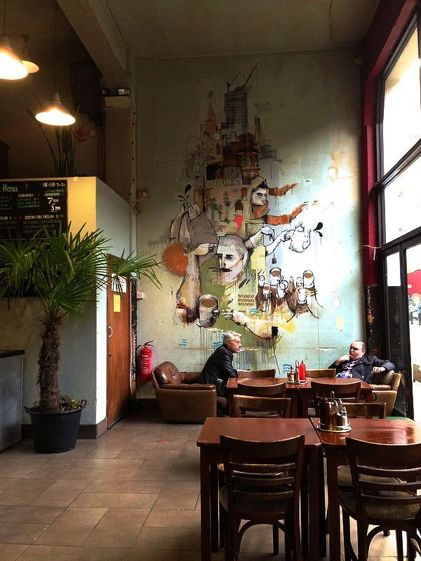 68 best mural styles restaurant and bar images on for Mural coffee shop