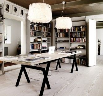 Great Douglas table in the office/library and Douglas flooring as well.