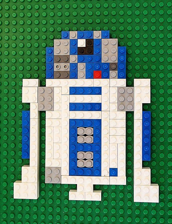 Printable Star Wars Lego Mosaic Patterns for fans of Star Wars: The Force…