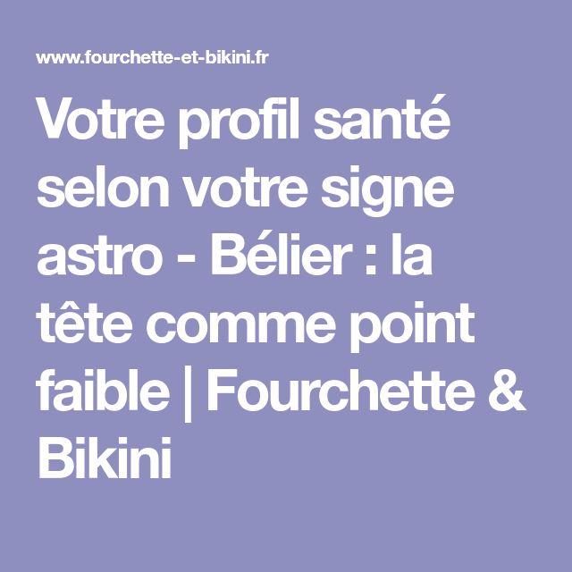 Votre profil santé selon votre signe astro - Bélier: la tête comme point faible   Fourchette & Bikini