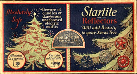 old Starlight Reflectors Noma Christmas Light Box...love...