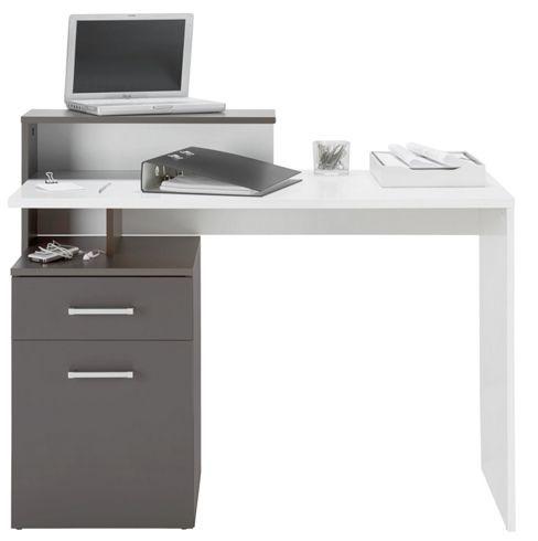 Funktionaler Schreibtisch in Weiß und Grau - ein Arbeitsplatz für Ihr Zuhause