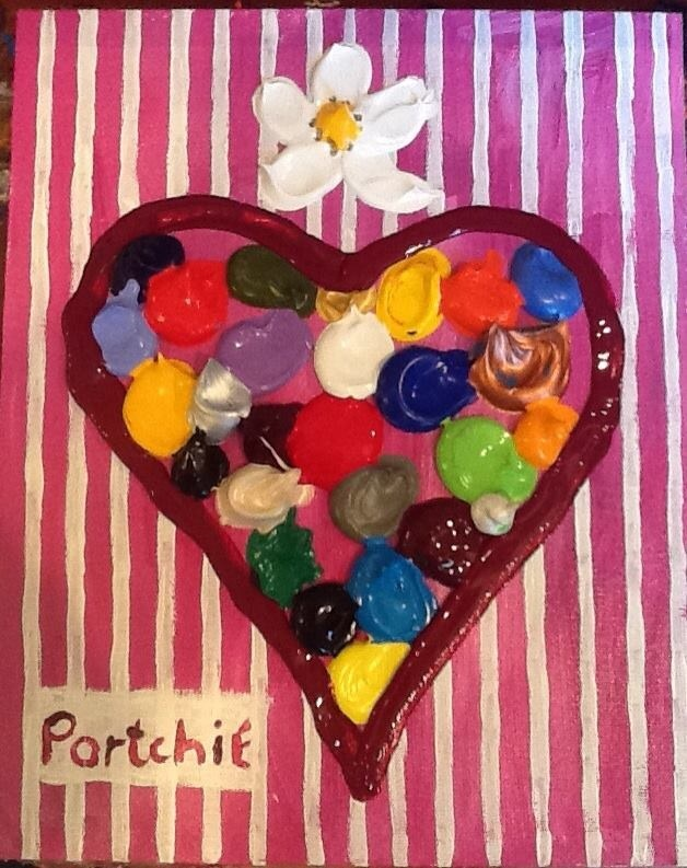 New heart with stripes by Portchie