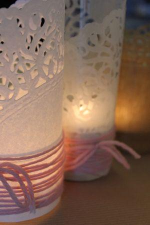 DIY : photophores napperons en papier