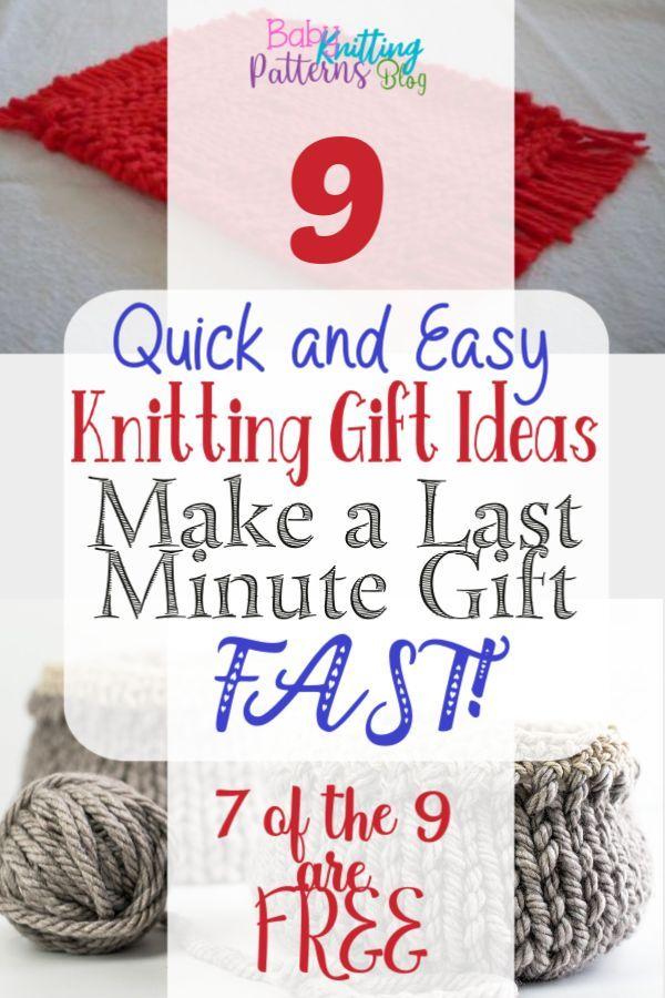 9 ideas de regalos de tejido rápido y fácil (¡haz un regalo de última hora rápido!)