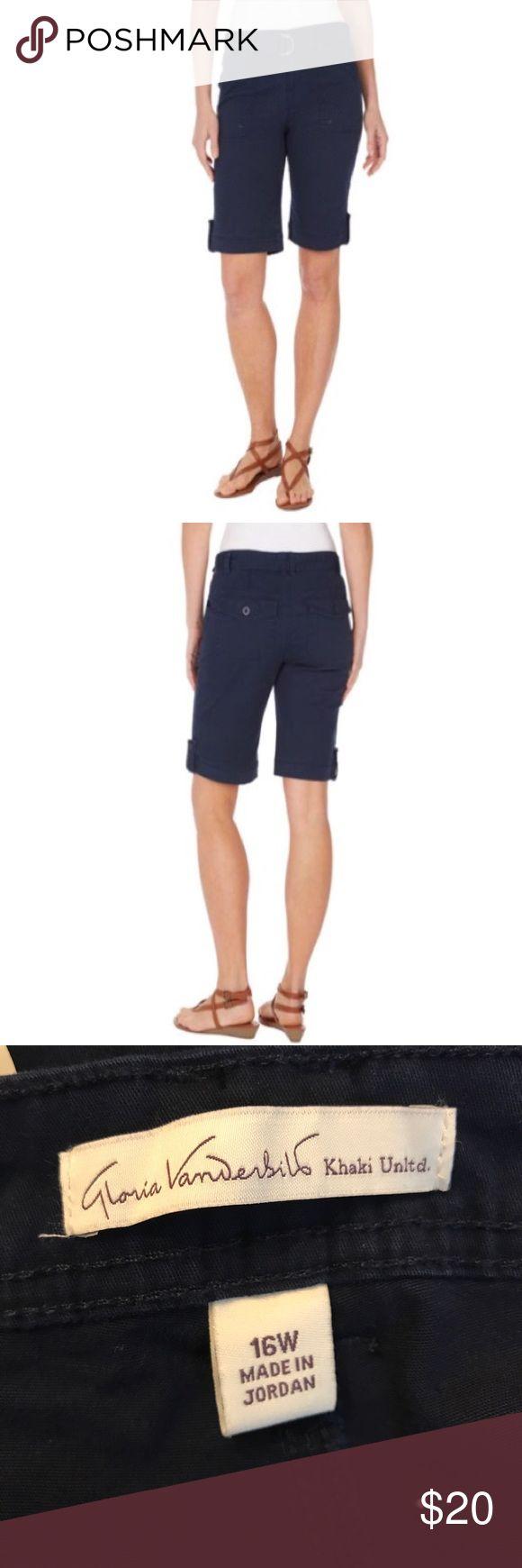 "Gloria Vanderbilt sierra Bermuda shorts Sierra Bermuda sits slightly below waist pockets all around belt included inseam 11"" Gloria Vanderbilt Shorts Bermudas"