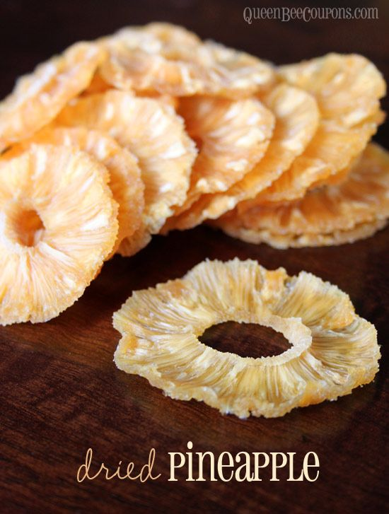 Pineapple: Canned sliced in juice not syrup. 130 degrees 13-15 hours. Yum