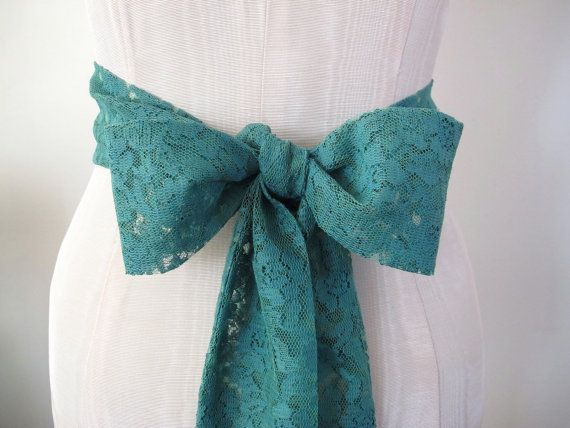 Vintage+Lace+Sash+in+Jade+Green+Wedding+Sash+Bow+Belt+by+ccdoodle,+$48.00