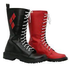 Harley Quinn Schuhe Suicide Squad Cosplay Kostüm Prop Adult Boots Zubehör XCOSER
