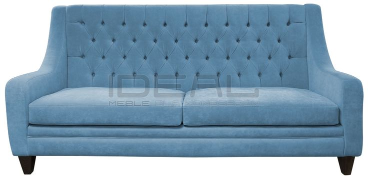 Jasno niebieska sofa chesterfield, light blue chesterfield, wygodna, comfortable,  pluszowa sofa chesterfield, Sofa Chesterfield Mild Rem, velvet, fotel,  chesterfield,  styl angielski, pikowana sofa, niebieski, navy, blue, sky sofa_chesterfield_mild_IMG_1372k.jpg (1200×593)