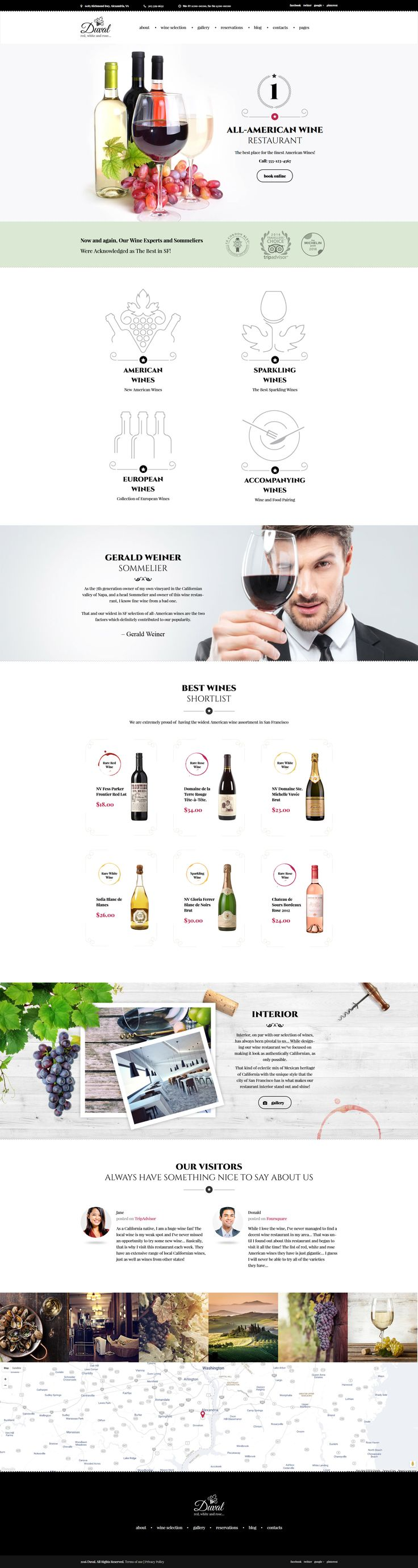 Check out a ready-made responsive WordPress template built with Bootstrap 3 that is designed and developed to present wineries in the most favorable manner online. Thanks to a drag-and-drop Power page builder, webmasters can feel the ease of organizing the presentation of the vineyard in the most favorable manner.   #wordpress #responsivedesign #winery #restaurant #powerbuilder #bootstrap  https://www.templatemonster.com/wordpress-themes/duval-wine-restaurant-wordpress-theme-59007.html
