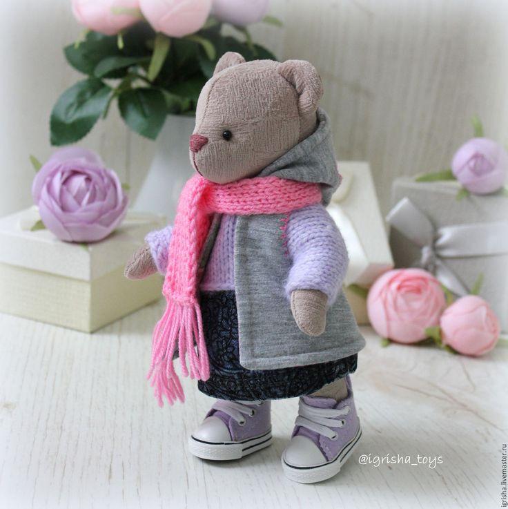 Купить Мишка модница с гардеробом - мишка, медвежонок, медведь тедди, игрушка, ручной работы