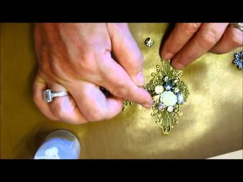 Unique Vintage Brooch Tutorial - jennings644 - YouTube
