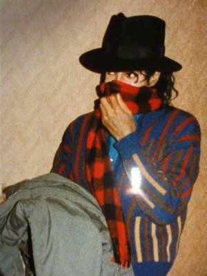 Michael Jackson such s smol bean bad era rare fedora curl in front of face