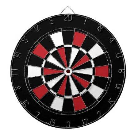 Black Red and White Dart Board - tap, personalize, buy right now!