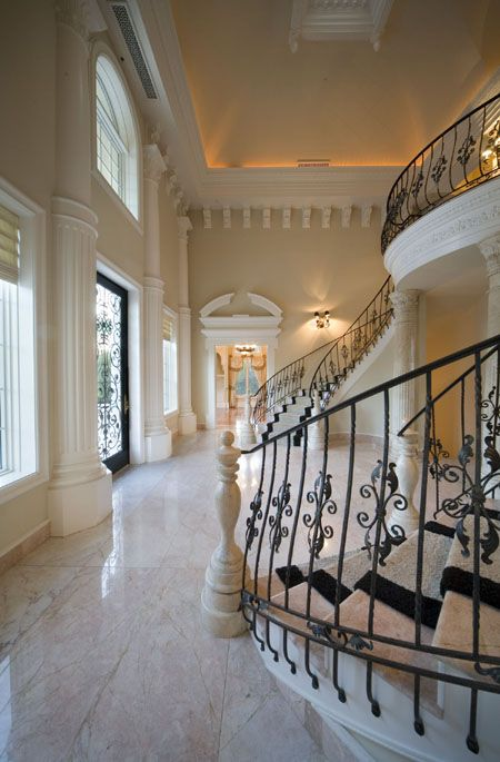 30 best images about luxury foyer on pinterest entry for House plans with stairs in foyer