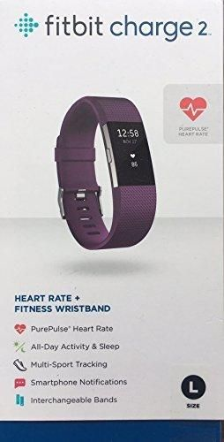 Fitbit Charge 2 Fitness Wristband / PURPLE color Band / Large / Heart Monitor / Steps Monitoring