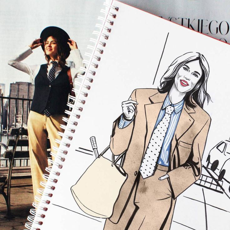 Alexa Chung #fashionillustration #fashion #style