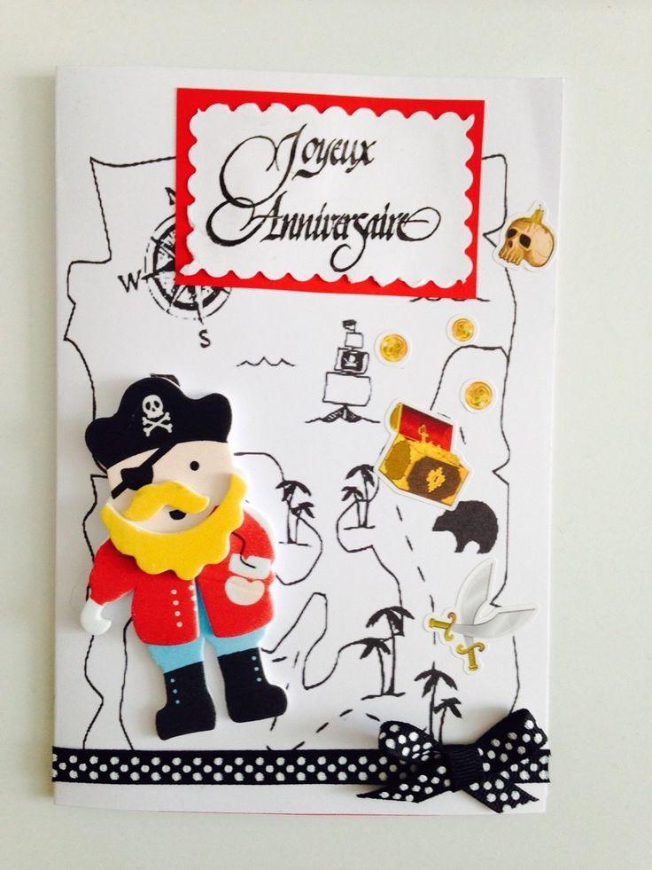 Carte d 39 anniversaire pirates pour gar on pirates - Carte d anniversaire garcon ...