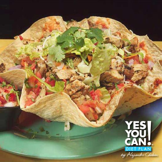 Taco Salad - A healthy option for your Yes You Can! Diet Plan lunch
