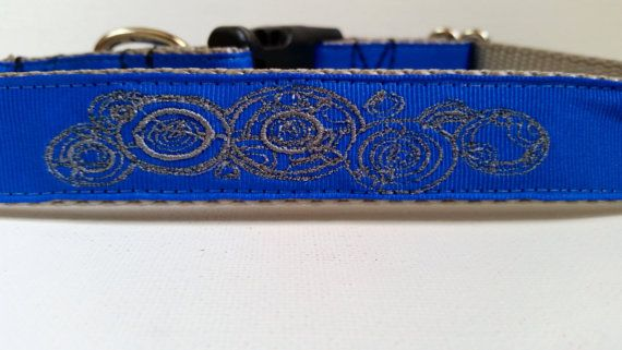 Dr Who Name Inspired Embroidered Dog Collar by SaintTiger on Etsy, $18.00