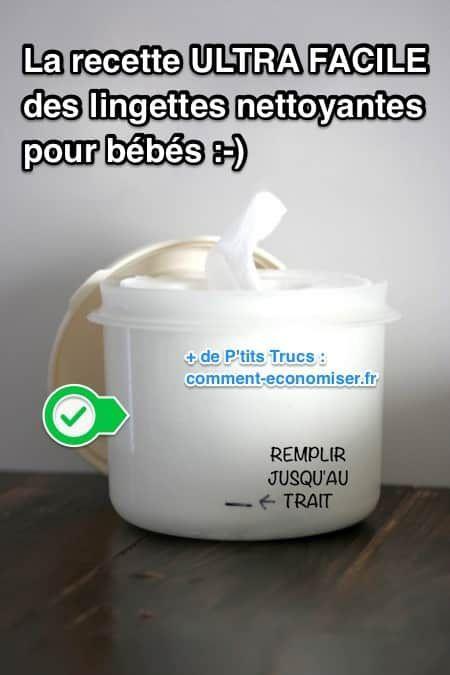 Ça fait bientôt 4 ans que j'ai découvert comment faire mes propres lingettes pour bébés. Le gros avantage, c'est que je peux aussi les utiliser comme lingettes démaquillantes !  Découvrez l'astuce ici : http://www.comment-economiser.fr/recette-facile-lingettes-nettoyantes-pour-bebes-maison.html?utm_content=bufferca3d8&utm_medium=social&utm_source=pinterest.com&utm_campaign=buffer