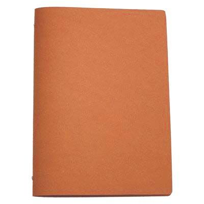 Tuscan Leather A4 Natural  A leather restaurant menu cover designed to hold an A3 sheet folded in half horizontally