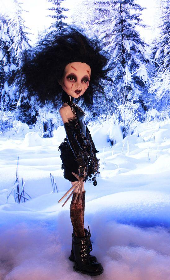 OOAK Monster High Repaint Original Scissorhands Art Doll Refabbed Gothic Emo | eBay