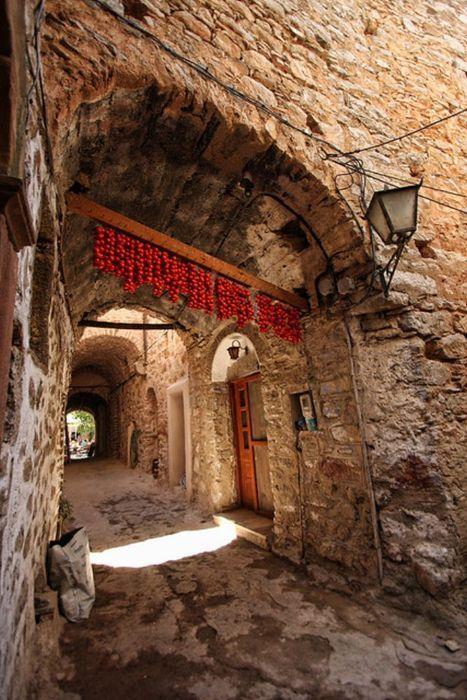 Im mittelalterlichen Dorf Mesta auf der Insel Chios