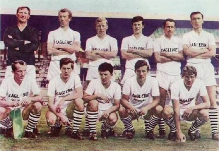 More cool typography on Polish football shirts.  Here Zagłębie Sosnowiec in 1967-8